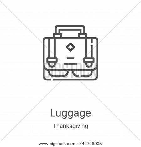 luggage icon isolated on white background from thanksgiving collection. luggage icon trendy and mode