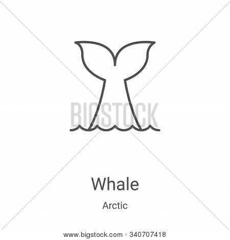 whale icon isolated on white background from arctic collection. whale icon trendy and modern whale s