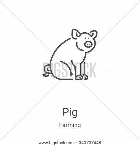 pig icon isolated on white background from farming collection. pig icon trendy and modern pig symbol