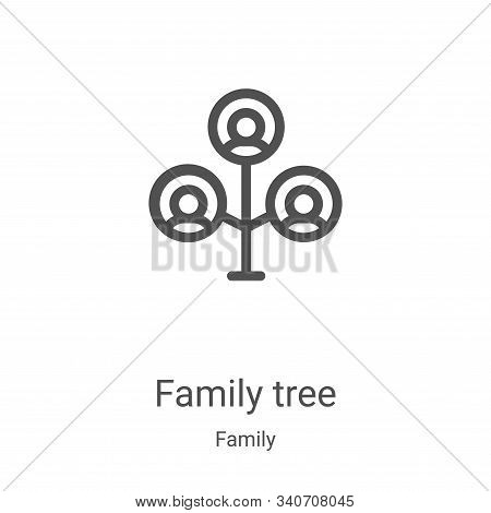family tree icon isolated on white background from family collection. family tree icon trendy and mo