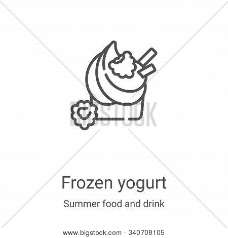 frozen yogurt icon isolated on white background from summer food and drink collection. frozen yogurt