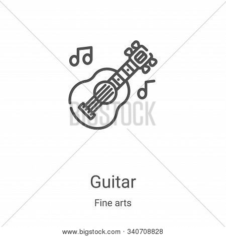 guitar icon isolated on white background from fine arts collection. guitar icon trendy and modern gu