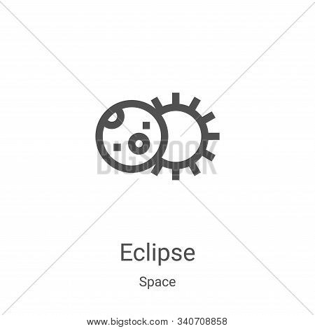 eclipse icon isolated on white background from space collection. eclipse icon trendy and modern ecli