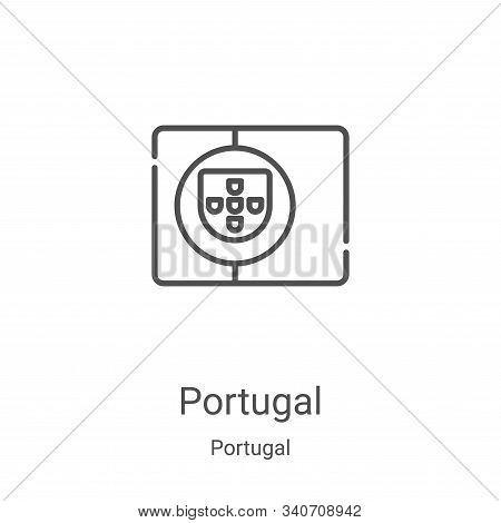 portugal icon isolated on white background from portugal collection. portugal icon trendy and modern