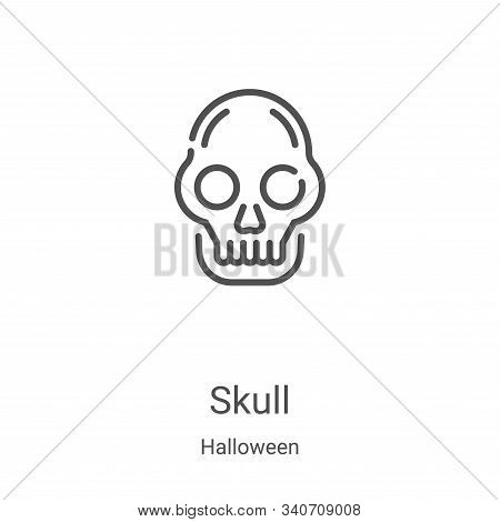 skull icon isolated on white background from halloween collection. skull icon trendy and modern skul
