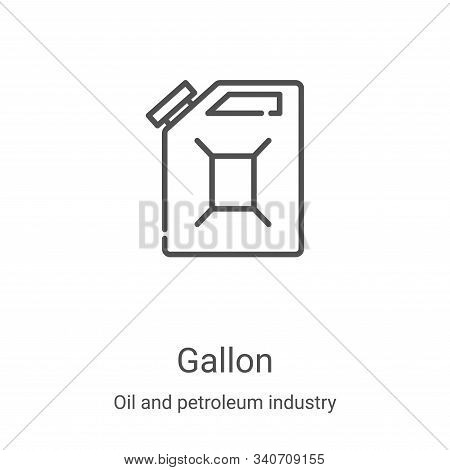 gallon icon isolated on white background from oil and petroleum industry collection. gallon icon tre