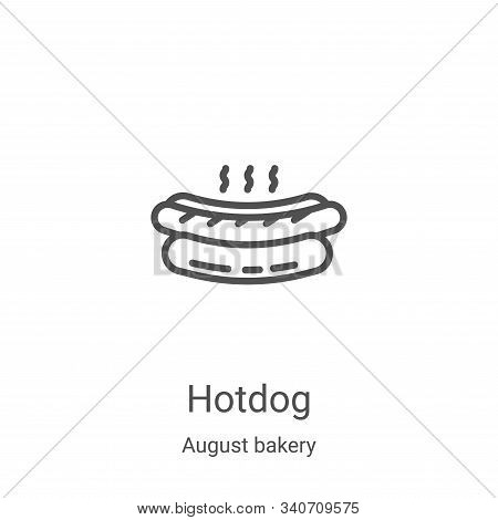 hotdog icon isolated on white background from august bakery collection. hotdog icon trendy and moder