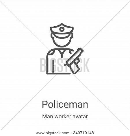 policeman icon isolated on white background from man worker avatar collection. policeman icon trendy