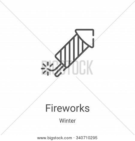 fireworks icon isolated on white background from winter collection. fireworks icon trendy and modern