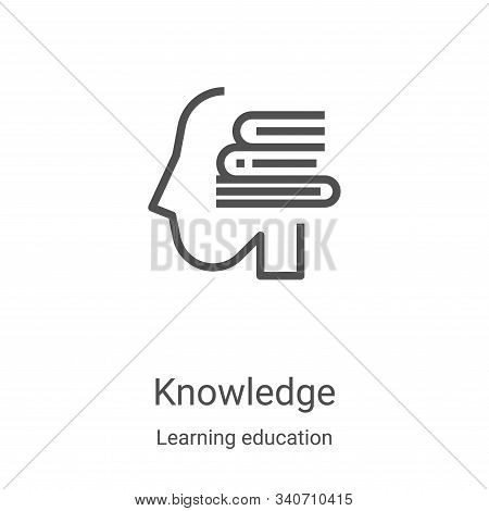 knowledge icon isolated on white background from learning education collection. knowledge icon trend