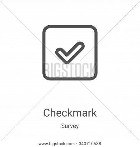 checkmark icon isolated on white background from survey collection. checkmark icon trendy and modern