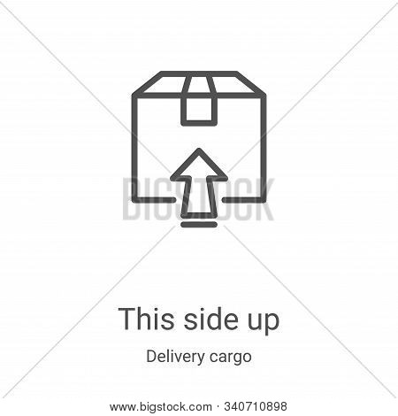 this side up icon isolated on white background from delivery cargo collection. this side up icon tre