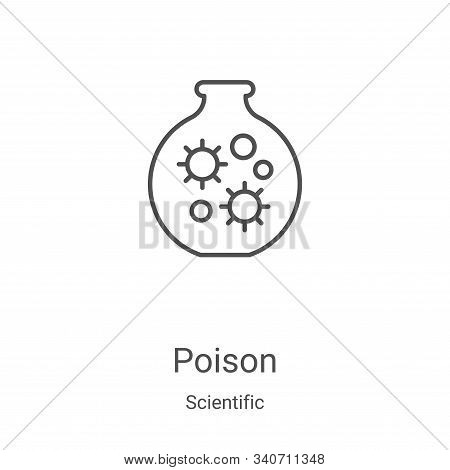 poison icon isolated on white background from scientific collection. poison icon trendy and modern p