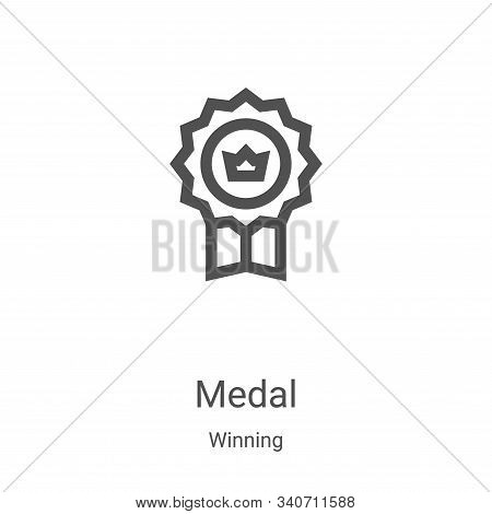 medal icon isolated on white background from winning collection. medal icon trendy and modern medal