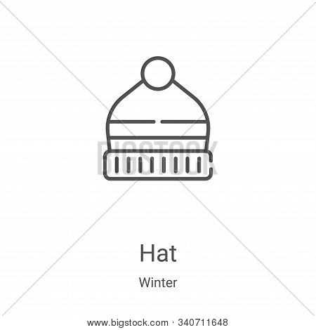 hat icon isolated on white background from winter collection. hat icon trendy and modern hat symbol