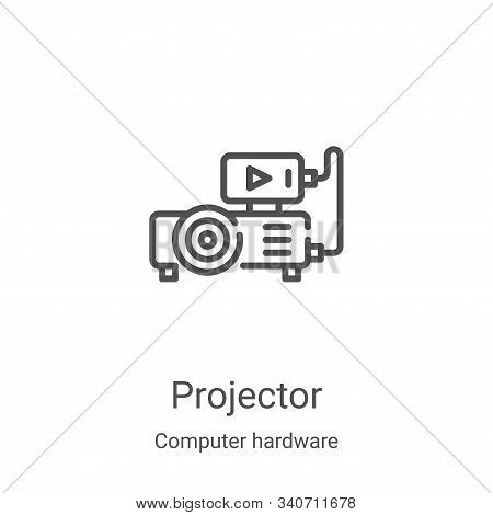 projector icon isolated on white background from computer hardware collection. projector icon trendy