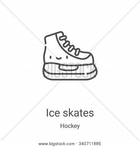 ice skates icon isolated on white background from hockey collection. ice skates icon trendy and mode