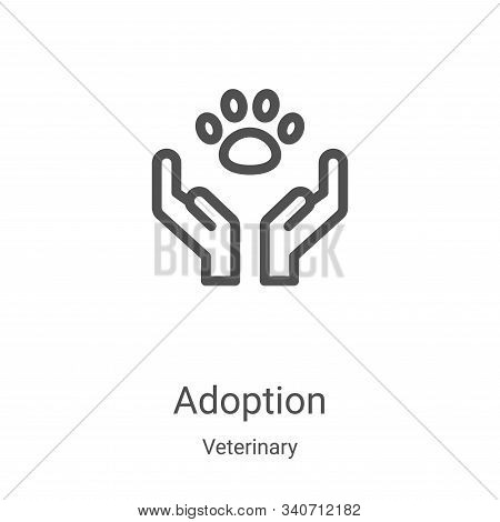 Adoption icon isolated on white background from veterinary collection. Adoption icon trendy and mode
