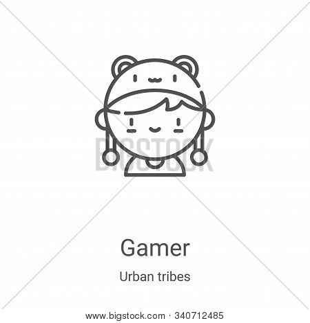 gamer icon isolated on white background from urban tribes collection. gamer icon trendy and modern g