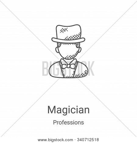 magician icon isolated on white background from professions collection. magician icon trendy and mod