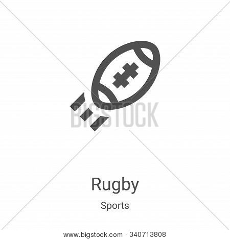 rugby icon isolated on white background from sports collection. rugby icon trendy and modern rugby s