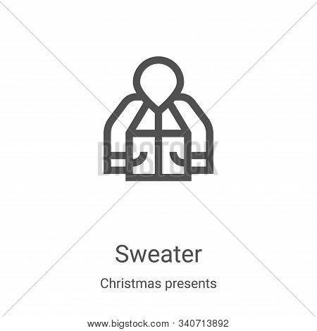sweater icon isolated on white background from christmas presents collection. sweater icon trendy an