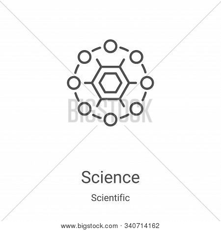 science icon isolated on white background from scientific collection. science icon trendy and modern