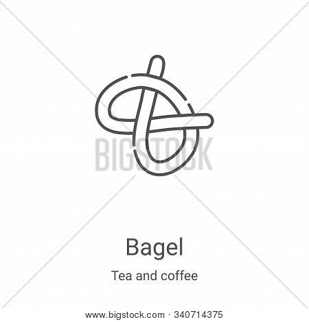bagel icon isolated on white background from tea and coffee collection. bagel icon trendy and modern