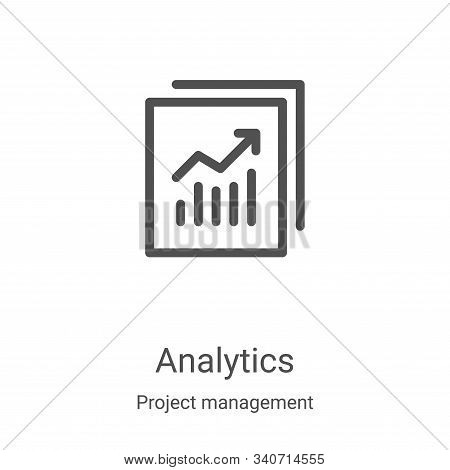 analytics icon isolated on white background from project management collection. analytics icon trend