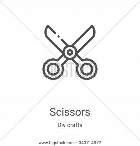 scissors icon isolated on white background from diy crafts collection. scissors icon trendy and mode