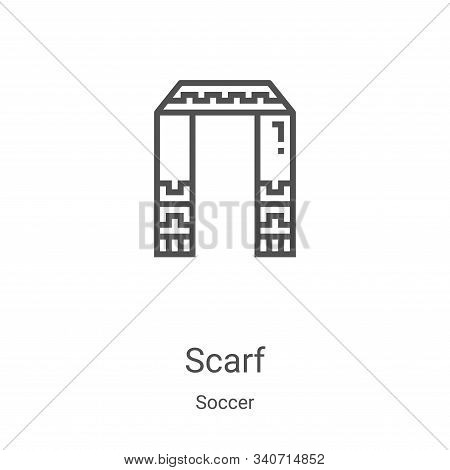 scarf icon isolated on white background from soccer collection. scarf icon trendy and modern scarf s
