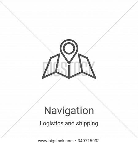 navigation icon isolated on white background from logistics and shipping collection. navigation icon