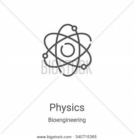 physics icon isolated on white background from bioengineering collection. physics icon trendy and mo