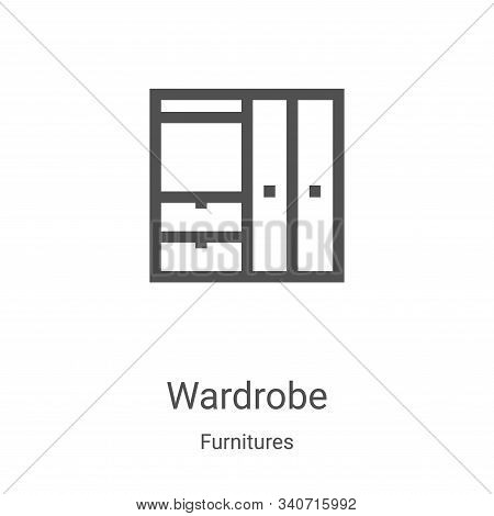 wardrobe icon isolated on white background from furnitures collection. wardrobe icon trendy and mode