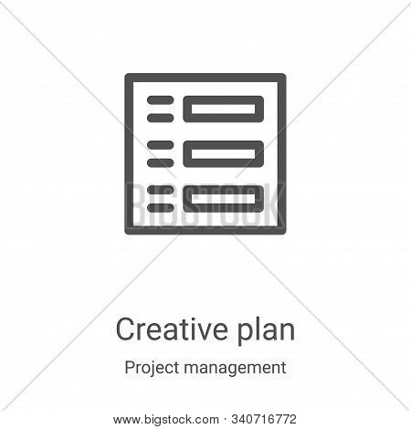 creative plan icon isolated on white background from project management collection. creative plan ic
