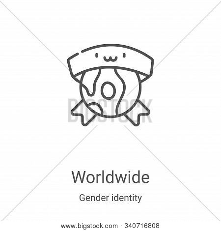 worldwide icon isolated on white background from gender identity collection. worldwide icon trendy a
