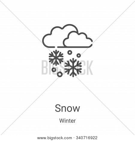 snow icon isolated on white background from winter collection. snow icon trendy and modern snow symb