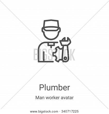 plumber icon isolated on white background from man worker avatar collection. plumber icon trendy and