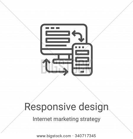 responsive design icon isolated on white background from internet marketing strategy collection. res
