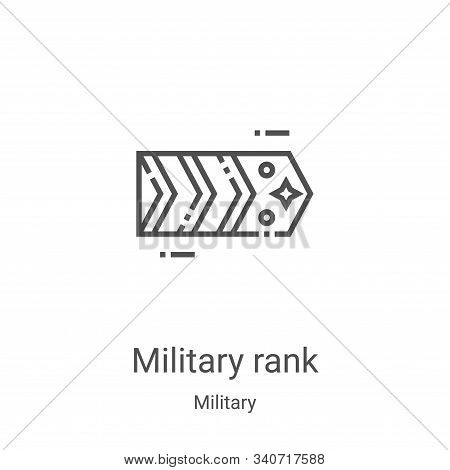 military rank icon isolated on white background from military collection. military rank icon trendy