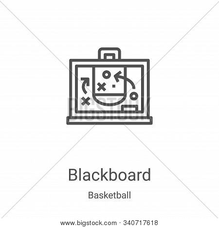 blackboard icon isolated on white background from basketball collection. blackboard icon trendy and