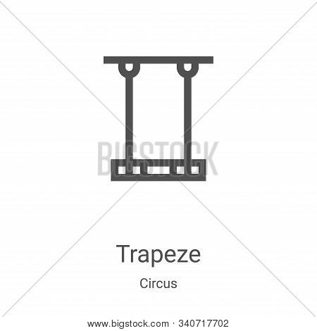 trapeze icon isolated on white background from circus collection. trapeze icon trendy and modern tra