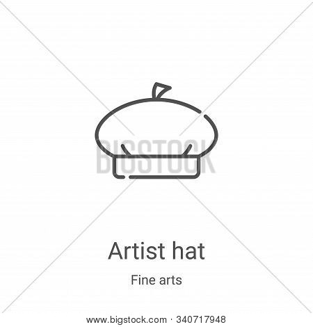 artist hat icon isolated on white background from fine arts collection. artist hat icon trendy and m