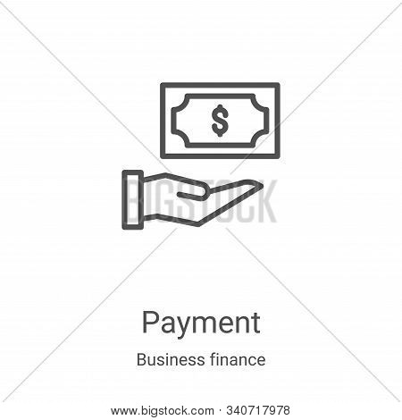 payment icon isolated on white background from business finance collection. payment icon trendy and