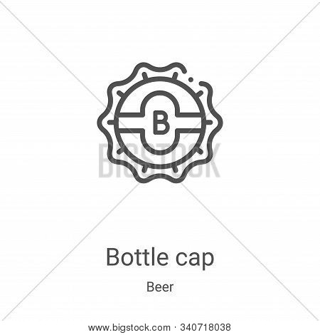 bottle cap icon isolated on white background from beer collection. bottle cap icon trendy and modern