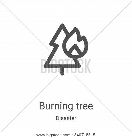 burning tree icon isolated on white background from disaster collection. burning tree icon trendy an