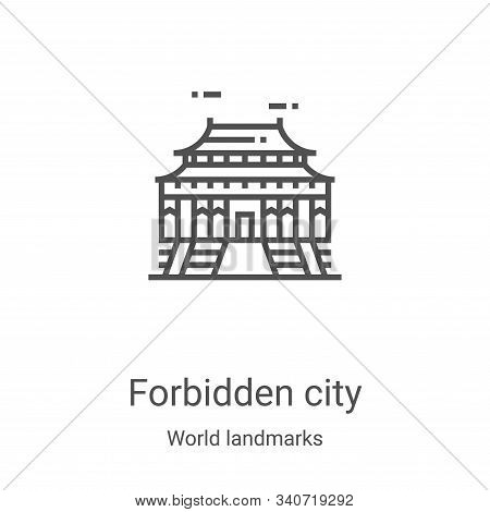 forbidden city icon isolated on white background from world landmarks collection. forbidden city ico