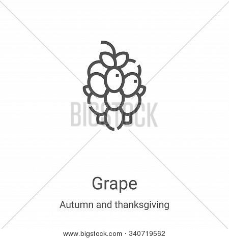 grape icon isolated on white background from autumn and thanksgiving collection. grape icon trendy a