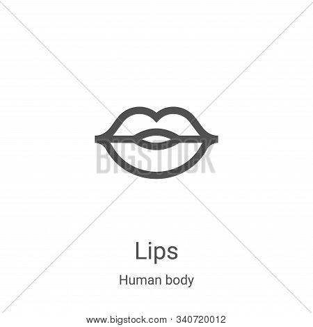 lips icon isolated on white background from human body collection. lips icon trendy and modern lips