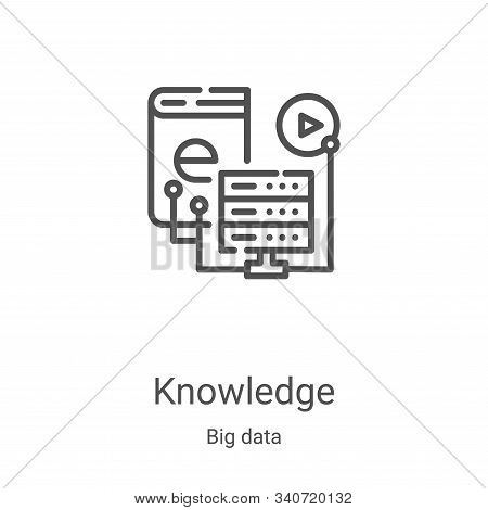 knowledge icon isolated on white background from big data collection. knowledge icon trendy and mode